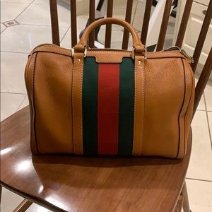 Gucci leather bowling bag
